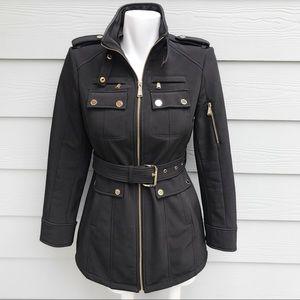 Michael Kors Brown Waterproof Jacket With Belt